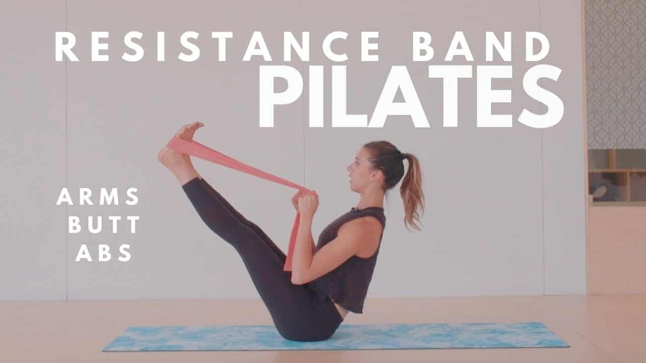 Resistance Band Pilates Workout Arms Butt Abs 15 Minute