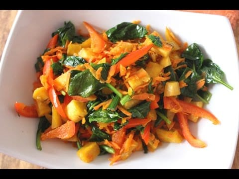 coconut-oil-sauteed-plantain-vegetable-medley-easy-side-dish-recipe