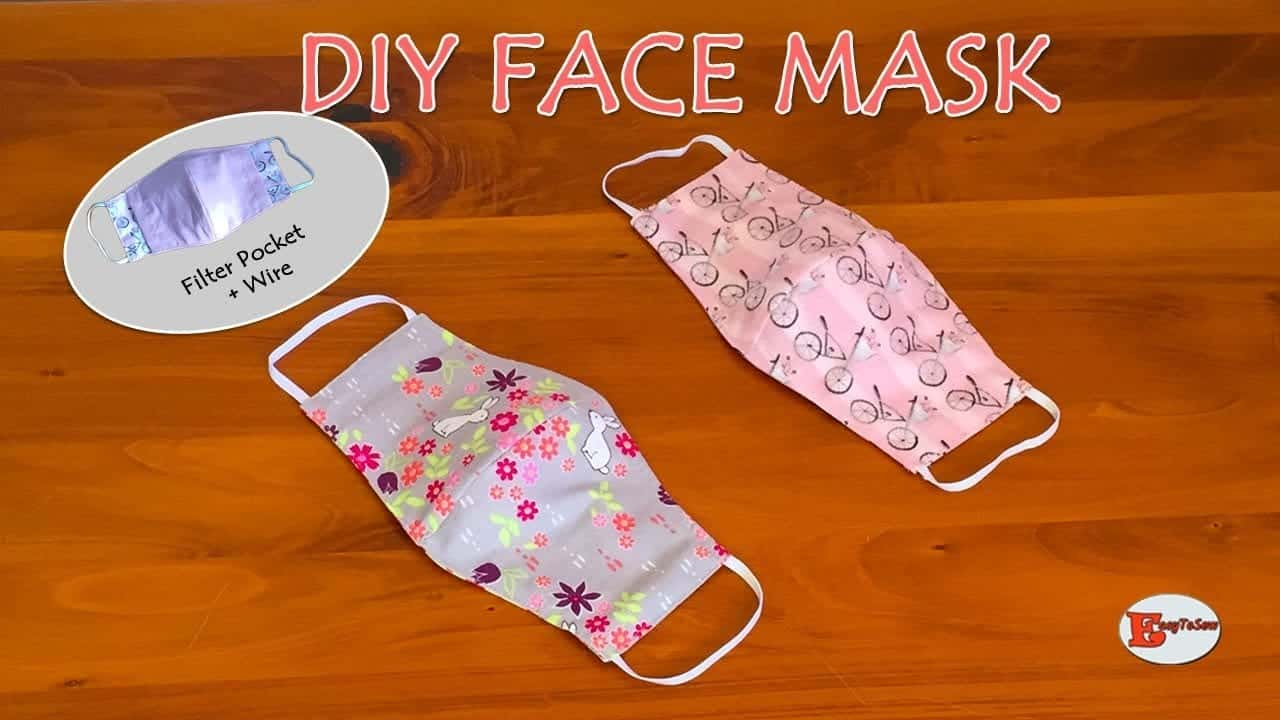 how-to-make-face-mask-at-home-diy-face-mask-with-filter-pocket-and-wire-sewing-tutorial