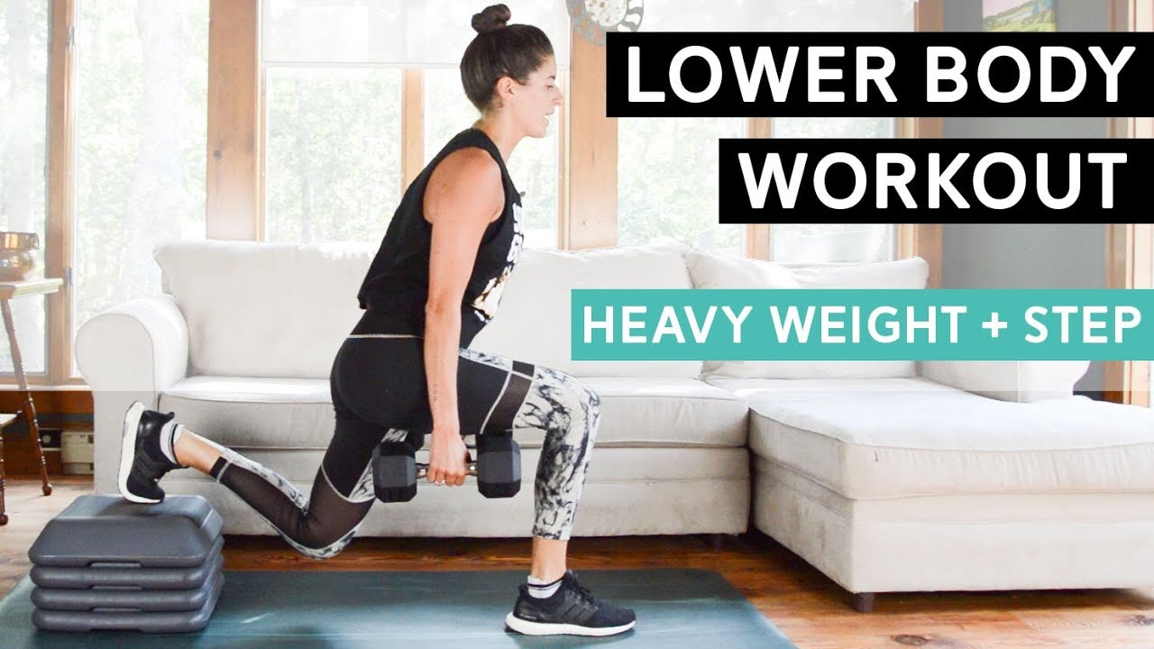 lower-body-workout-with-heavy-weights-step-strength-cardio